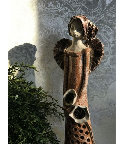 B.Anioł ceramiczny Ażurowy Łosoś