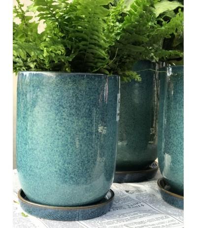 Dolagra Donica ceramiczna smukła Błękit