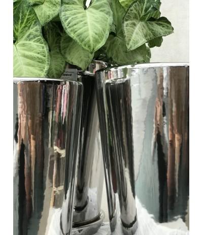 Dolagra Donica ceramiczna z podstawką smukła Lustrzanka