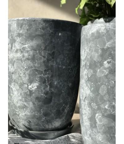 Dolagra donica ceramiczna smukła Marmur