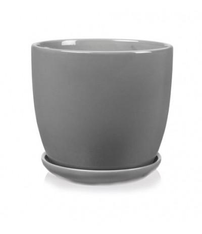 P.Amsterdam donica ceramiczna z podstawkiem Szara