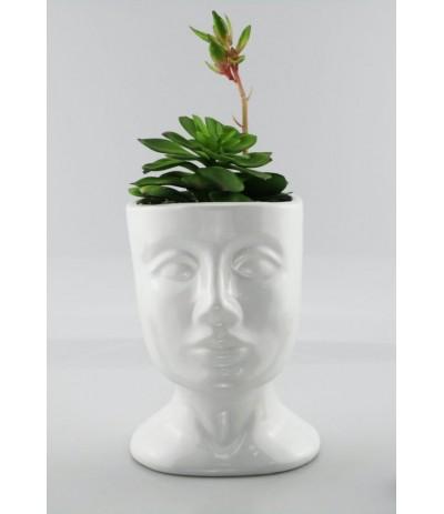 P.Ceramiczna głowa osłonka biel