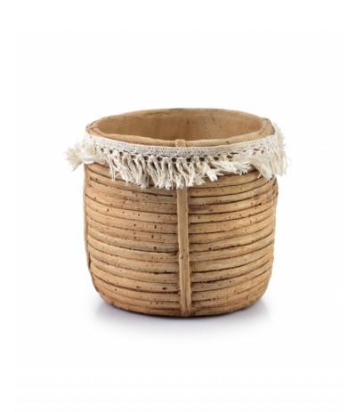 M.Rosita Osłonka ceramiczna Beż ze sznurkiem