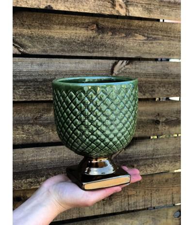 P.Kielich ceramiczny na nodze Gold & Green