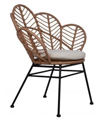 E.Krzesło metal + ratan