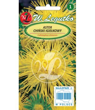 L.Aster chiński igiełkowy żółty