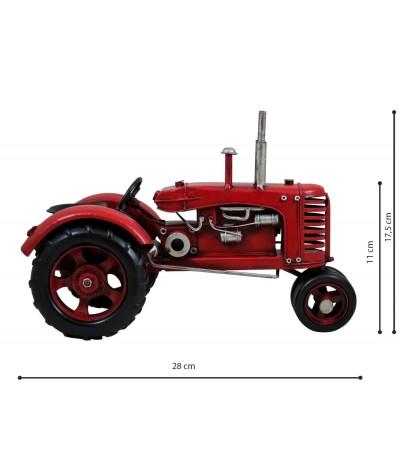 H.Traktor Retro Czerwony