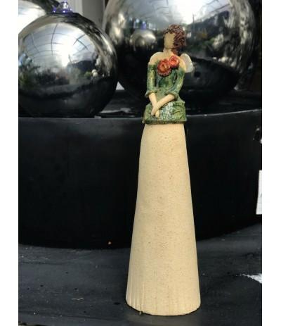 B.Anioł ceramiczny szmaragd