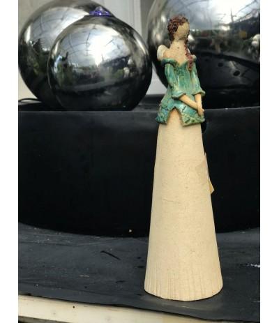B.Anioł ceramiczny turkus