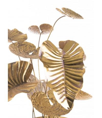 A.P.Kwiat metalowy w donicy Gold