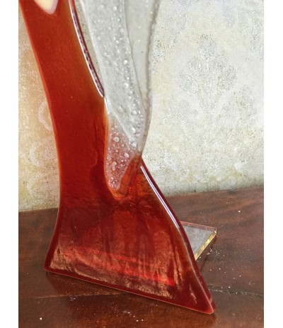 B.Anioł szklany stojący Czerwony