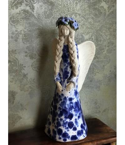 B.Anioł ceramiczny Wiosna Niebieski