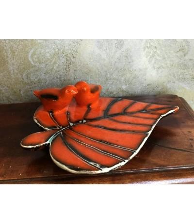 B.Patera ceramiczna Liść Pomarańcz D