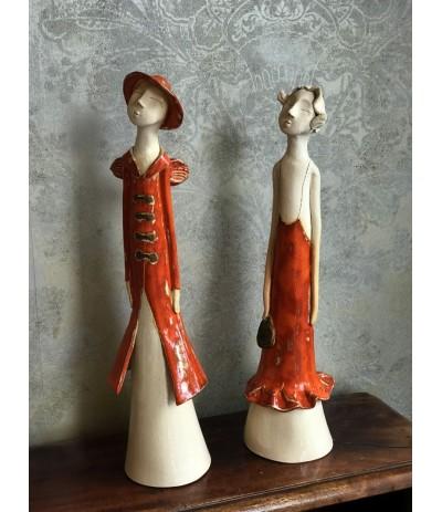 B.Anioł ceramiczny klasyczny Kobieta
