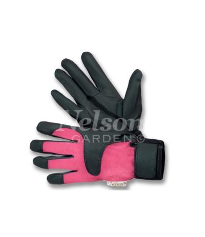 L.Rękawice Drip różowe 7