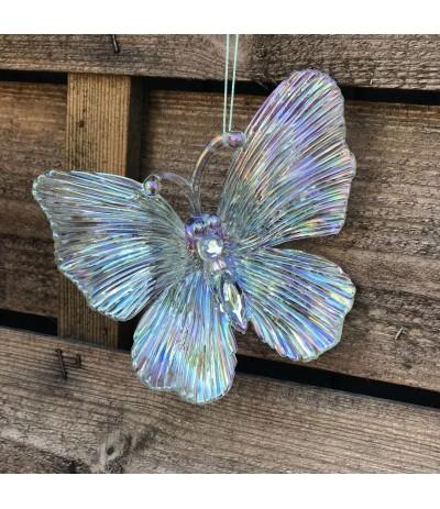 AM Zawieszka Motyl Tęczowy  11cm 2szt