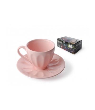 Badem kpl 6 filiżanek różowych 165ml