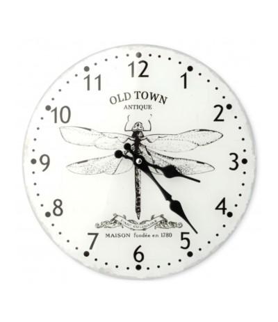 Zegar szklany fi30 Ważka