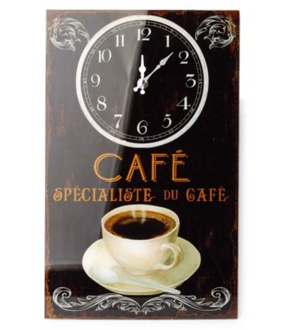 Zegar szklany prostokątny 25/40cm Caffe