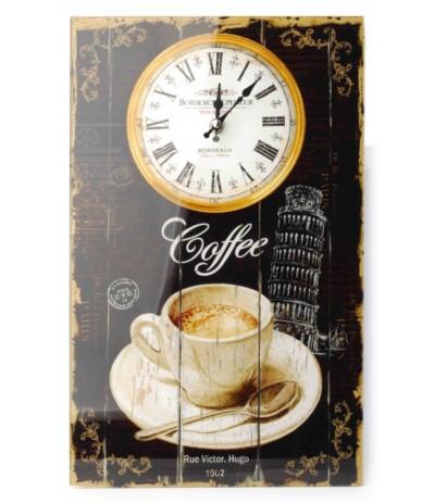 Zegar szklany prostokątny 25/40 Coffee