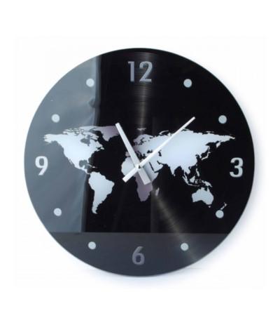 Zegar szklany fi30 Mapa świata