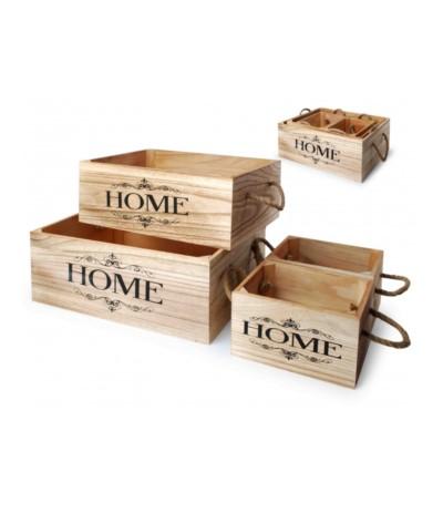 Skrzynka drewniana Home