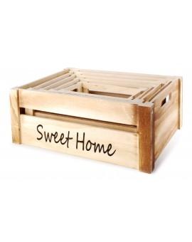 Skrzynka drewniana Sweet Home