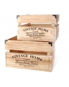 Skrzynka drewniana Vintage Home 25/20/16cm