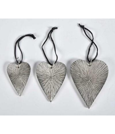 X-mas Zawieszka serce srebrne A