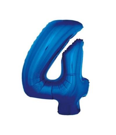 G.Balon foliowy cyfra 85cm 4 niebieska