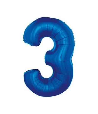 G.Balon foliowy cyfra 85cm niebieski 3