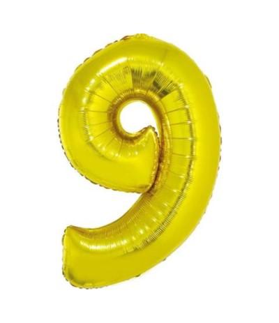 G.Balon foliowy cyfra 85cm 9 złota
