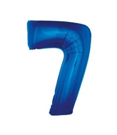 G.Balon foliowy cyfra 85cm 7 niebieski