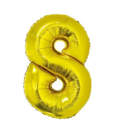 G.Balon foliowy cyfra 85cm 8 złota