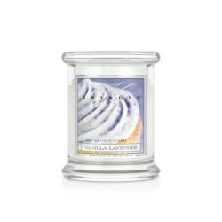 Kringle Świeca w szkle medium Waniliowa lawenda 50h