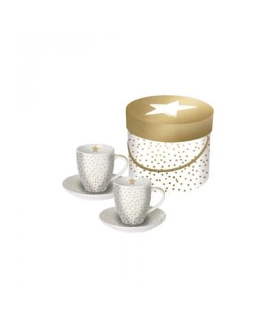 Gold star kpl 2 filiżanek  espresso