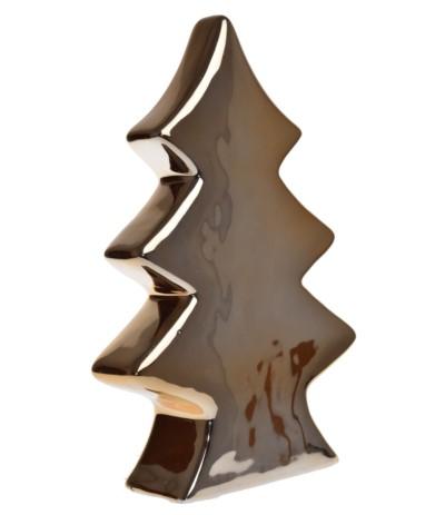 E.Choinka ceramiczna 28,5cm złota
