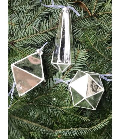 Bombka szklana geometryczna