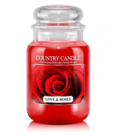 Country Świeca 652g Love & Roses