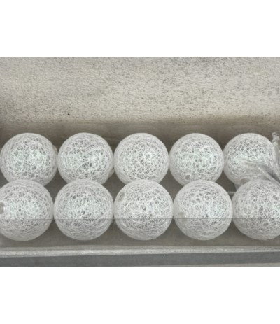 A.Cotton balls 10szt bat biało-sr