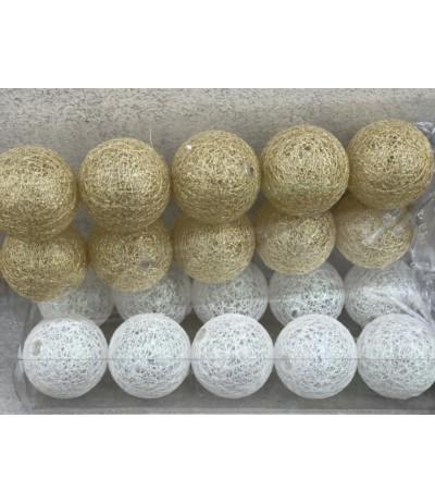 A.Cotton balls 10szt bat złote
