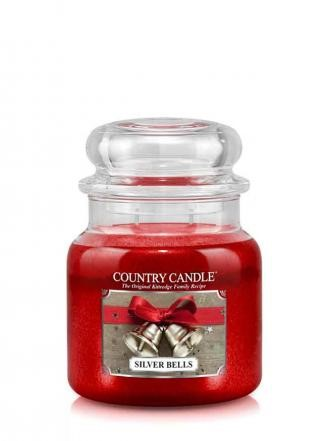 Country Candle Świeca w szkle 453g Silver Bells