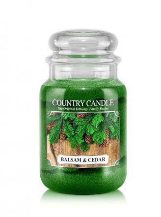 Country Candle Świeca w szkle 652g Balsam&Cedar