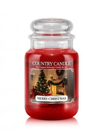 Country Candle Świeca w szkle 652g Merry Christmas