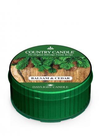 Country Candle Świeca 12h Balsam & Cedar