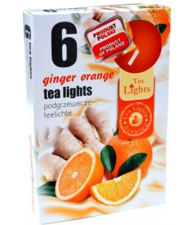 A.Podgrzewacze zapachowe 6szt Imbir-pomarańcza