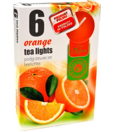 Podgrzewacze zapachowe 6szt pomarańcza