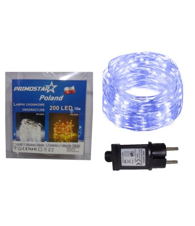 Primo oświetlenie drucik led 200l zimny