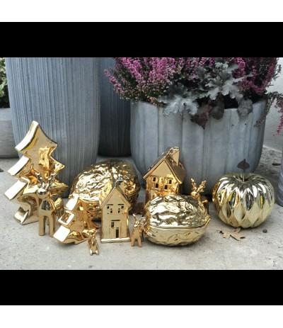 E.Choinka ceramiczna 13cm złota
