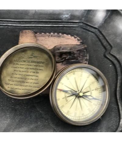 M.Kompas w pudełku skórzanym
